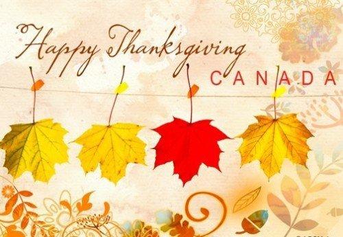 Canadian Thanksgiving Mappel Leaf