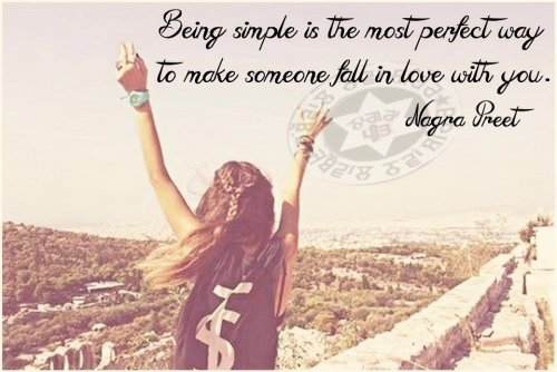 Being Simple Is The Most Perfect Way