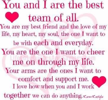 You And I Are the Best Team