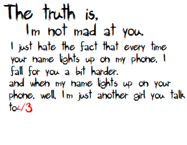 The Truth IS Breakup Quote
