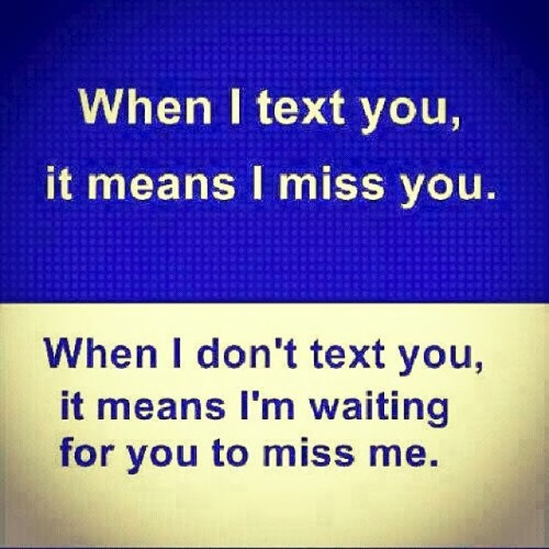 When I text you v