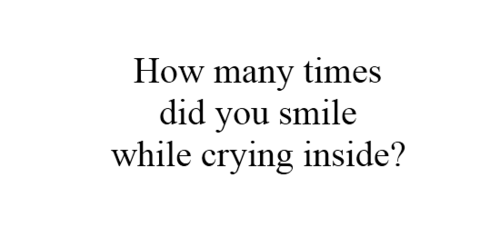 While Crying Inside
