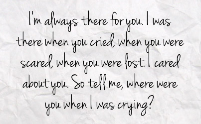 You When I Was Crying