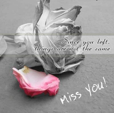 since You Left Miss You Quote