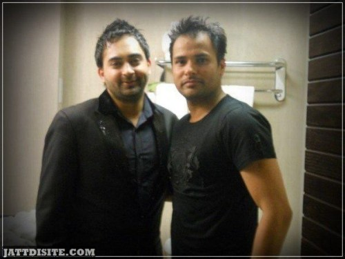 Amrinder Gill And Sherry maan In Hotel Room