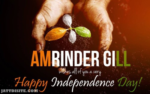 Amrinder Gill Best Wishes OF Independence day
