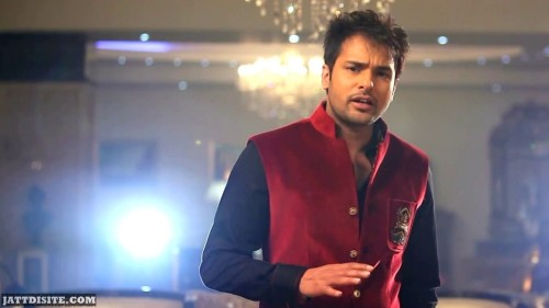Amrinder Gill Wearing Red Dress