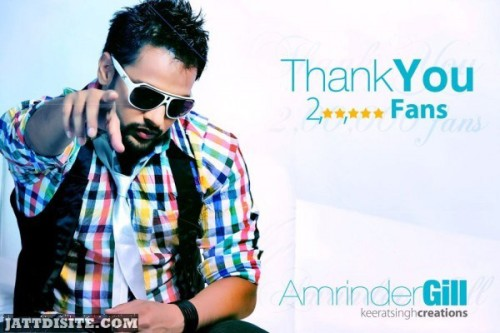 Amrinder gill In Beautiful T-Shirt