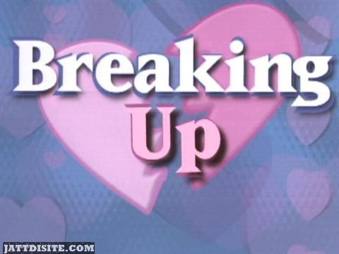 Breaking Up heart Graphic