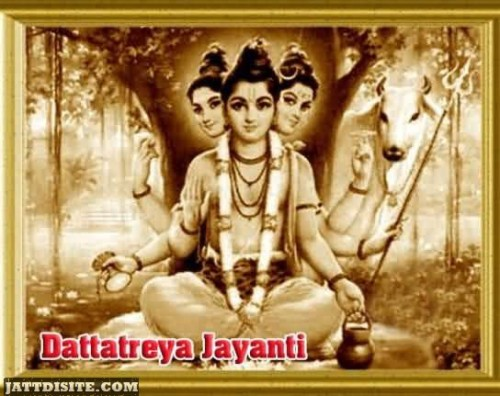 Dattatreya Jayanti Graphic For Sharing on Facebook