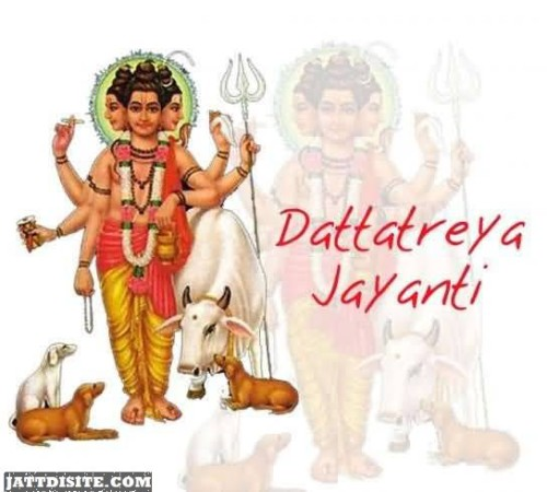 Dattatreya Jayanti Greeting Card For Dear Friends