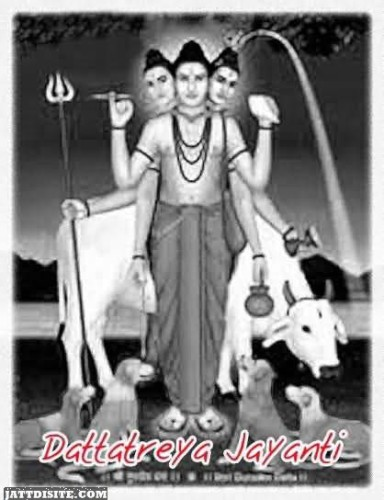 Dattatreya Jayanti Greeting Card For Friends