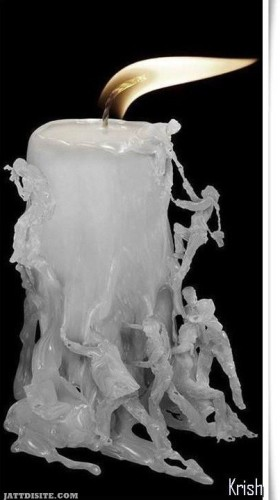 Funny candle