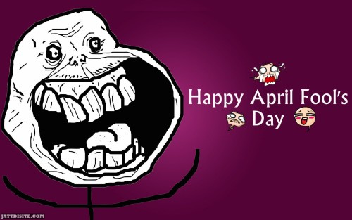 Happy April Fools Day Laughing Meme Graphic