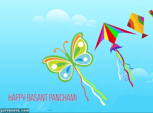 Happy Basant Panchami Kites In The Sky Graphic