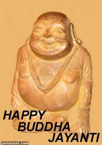 Happy Buddha Jayanti Graphic For Sharing On Facebook