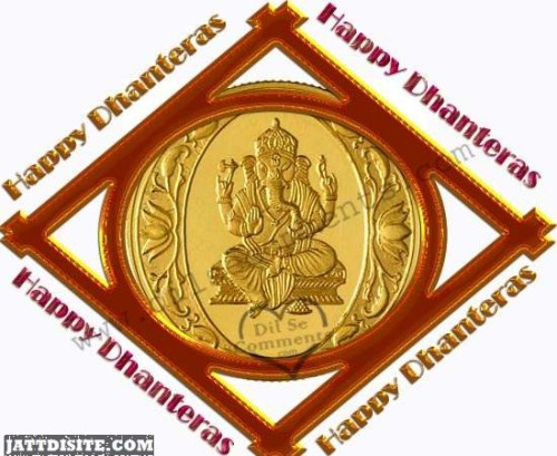 Happy Dhanteras Beautiful Greeting Card