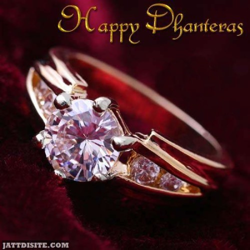 Happy Dhanteras Diamond Ring Graphic