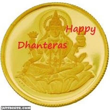 Happy Dhanteras Gold Coin