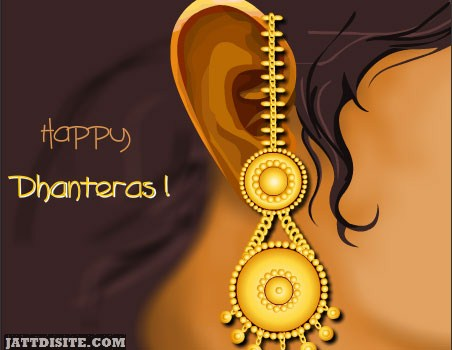 Happy Dhanteras Golden Earing