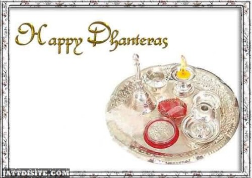 Happy Dhanteras Greeting Card Graphic