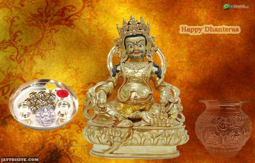 Happy Dhanteras Greeting Wallpaper