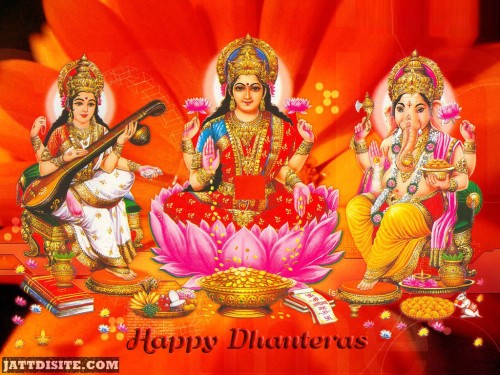 Happy Dhanteras Laxmi Ji Graphic