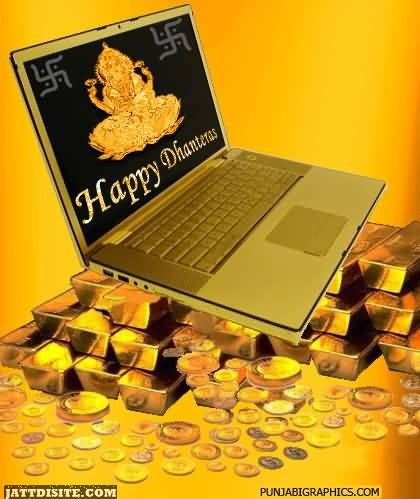 Happy Dhanteras On Laptop