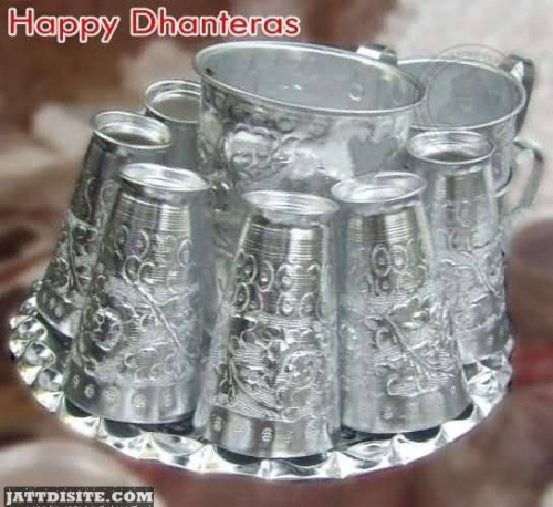 Happy Dhanteras Silver Glass