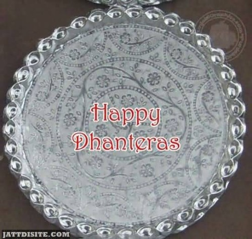 Happy Dhanteras Thali Graphic