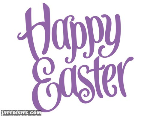 Happy Easter Purple text