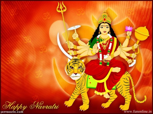 Happy Navratri Maa Durga Graphic