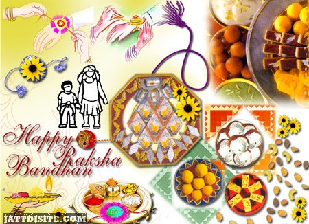 Happy Raksha Bandhan Greeting Ecard