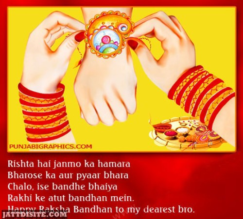 Happy Raksha Bandhan To My Dearest Bhaiya