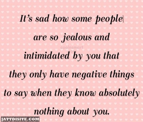 How Some People Are So Jealous