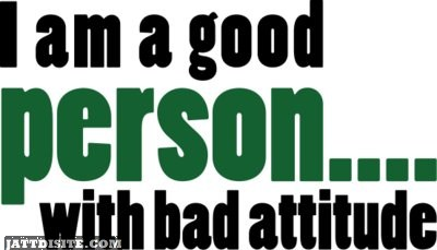 I Am A Good Person With Bad Attitude