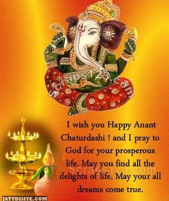 I Wish You Happy Anant Chaturdashi And I Pray To God For Your Prosperous Life
