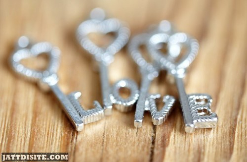 Keys Hearts Letters Love