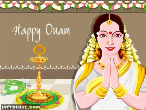 Lady Wishes Happy Onam