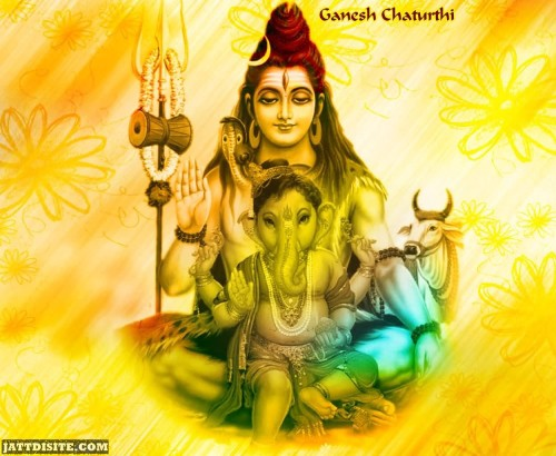 Lord Shiv And Ganesh Graphic - Happy Anant Chaturdashi