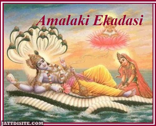 Lord Vishnu With Luxmi On Amalaki Ekadasi