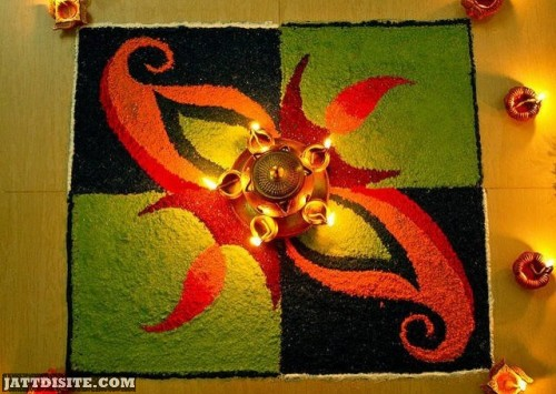 Make Rangoli On Amalaki Ekadasi