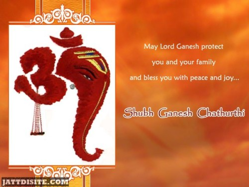 May Lord Ganesh Protect You And Your Family And Bless You With Peace And Joy Shubh Anant Chaturdashi