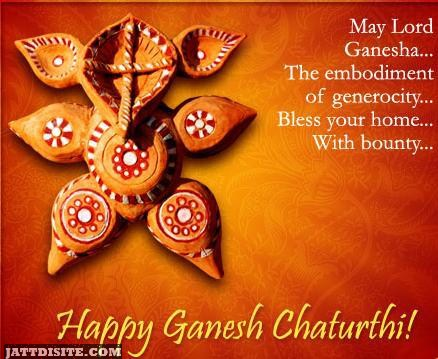 May Lord Ganesha The Embodiment Of Generocity Bless Your Home With Journey - Happy Anant Chaturdashi