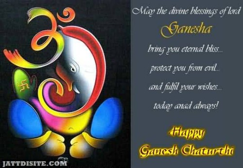 May The Divine Blessings Of Lord Ganesha - Happy Ganesh Chaturthi
