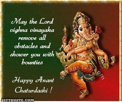 May The Lord Remove All Obstacles - Happy Anant Chaturdashi