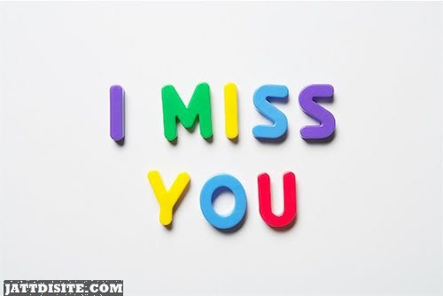 Miss You Colourful Letter