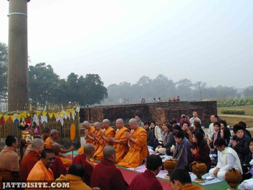 People Workship On The Ground On Buddha Jayanti