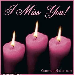 Pink Candle Miss You