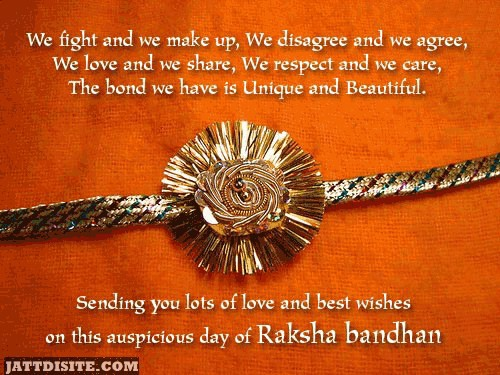 Sending You Lots Of Love And Best Wishes On This Auspicious Day Of Raksha Bandhan